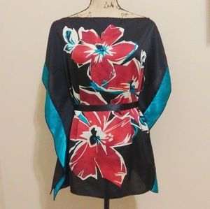Tops - Silk Floral Blouse